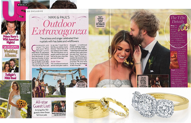 Nikki Reed and Paul McDonald Exchange Tacori Wedding Bands